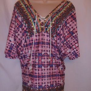 NWT NANETTE LAPORE SWIM BEACH COVER-UP TUNIC & mat